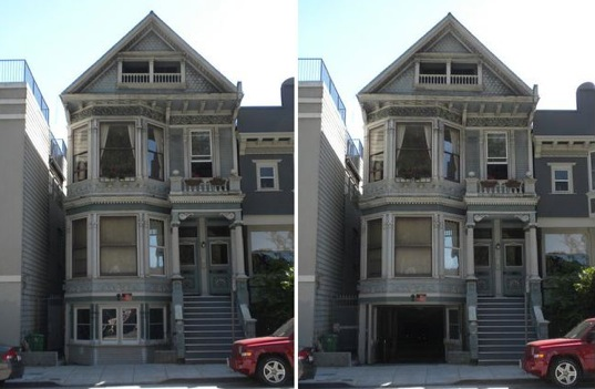 sustainable design, historic district, Beausoleil Architects, Haight-Ashbury, Victorian facade, folding facade, eco-design, green design, San Francisco, reclaimed materials