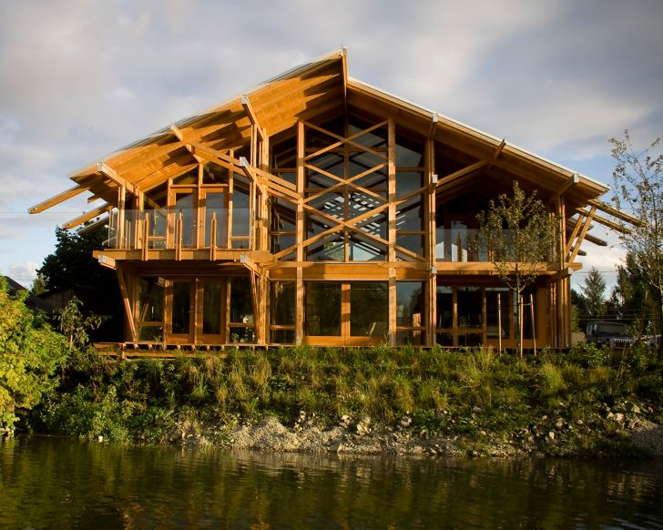 Canadian Timber House Fraser River Residence By Scott M