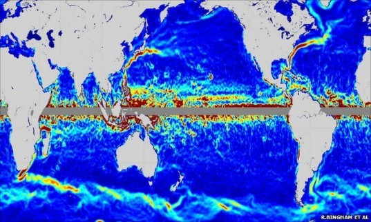 GOCE Satellite ocean currents