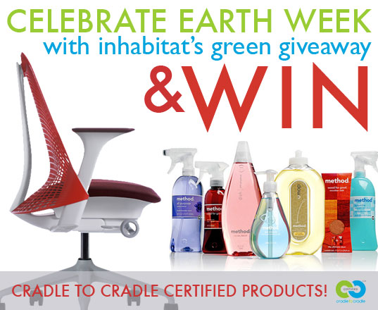 Earth Day, Earth Week, MBDC, Cradle to Cradle certified, Cradle to Cradle philosophy, Cradle to Cradle, William McDonough, giveaways, free stuff, win this, green giveaways, earth day giveaways, earth week giveaways, earth day prizes, earth week prizes, earth month