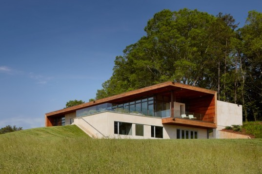 Leicester House, SPG Architects, north carolina, green roof, rainwater collection, green building, sustainable architecture