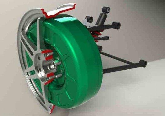 Protean, Electric F150, green automotive design, green transportation, alternative transportation, in-wheel motor, electric vehicle