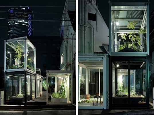 green design, eco-design, sustainable design, urban life, organic agriculture, urban agriculture, tokyo, ON Design, Roppongi Nouen Farm, glass cubes