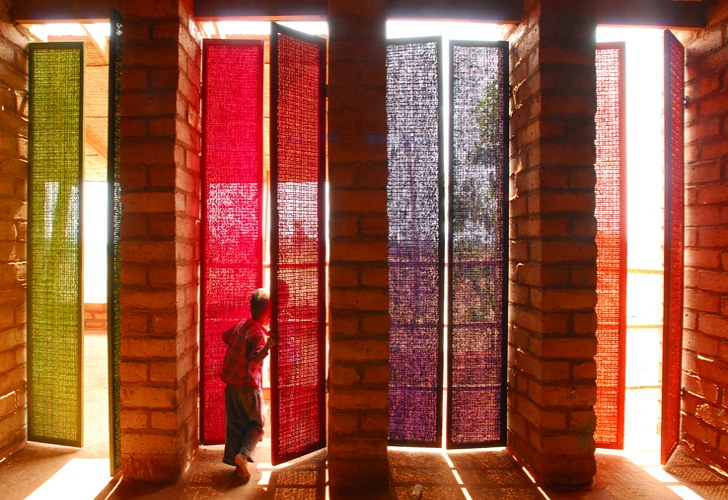 Colorful Sra Pou Vocational School Is Hand Built Using Local Materials In Cambodia
