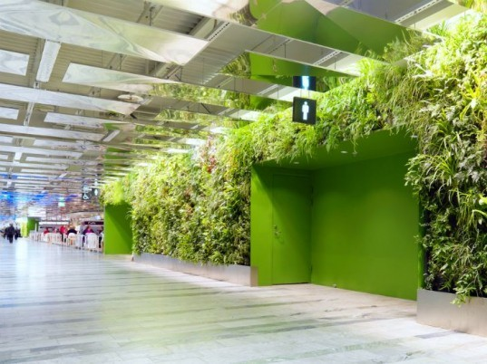 Stockholm International Fairs, stockholm, exhibition center, vertical garden, living wall, rosenberg arkitektur