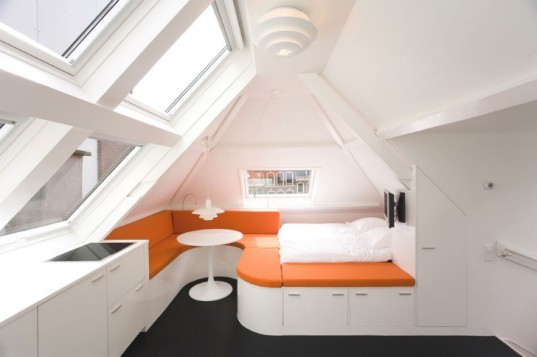 Maff Apartment, small space living, micro apartment, the hague, built-in furniture