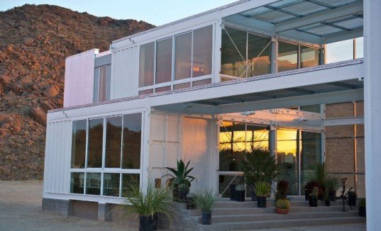 mojavo desert shipping container, shipping container home, ISO home, sustainable architecture, ecotechbuild, green design, recycled materials, Tim Palen Studio at Shadow Mountain