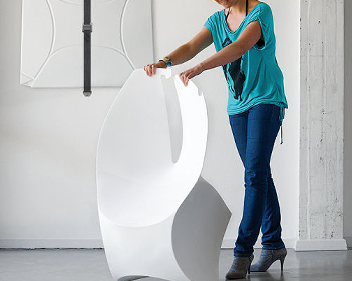 Origami Influenced Flux Chair Makes For Low Energy Store And