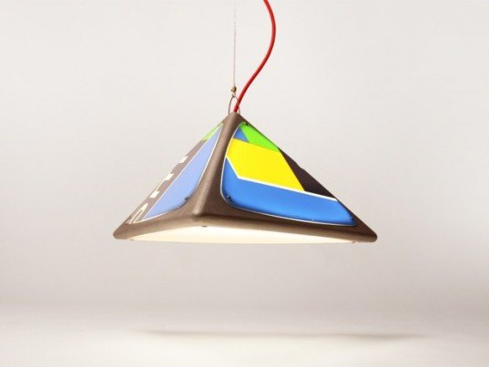 designtree, recycled material, green lamps, ledge lamp, new zealand design, tim wigmore, eco product design, re-purposed materials, flexible design