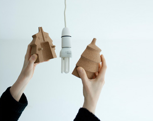 Great Pinha: A Cute Cork Lamp That You Can Personalize With A Pin | Inhabitat    Green Design, Innovation, Architecture, Green Building