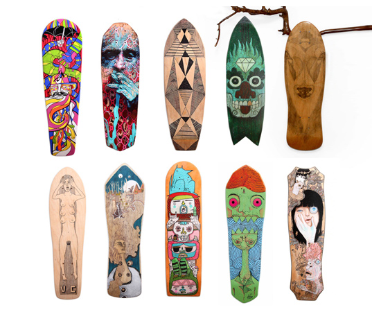 Reskate: Old skateboards are rescued and turned into amazing artwork ...