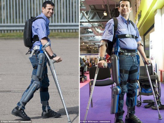 technology Exoskeleton, Paraplegics Ability to Walk, Amit Goffer, Argo Medical Technologies, Cyclone Technologies, design for health, walking for wheelchair bound, walking technology, design for paraplegics