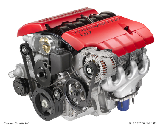 GM LS7 7.0L V-8 engine, laser spark plugs, green transportation, alternative transportation, clean tech, green automotive design