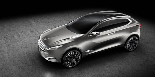 Peugeot SXC Concept, hybrid turbodiesel crossover, Shanghai Motor Show