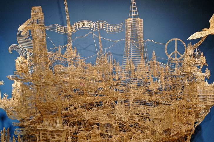 Incredibly Patient Artist Uses 100 000 Toothpicks To