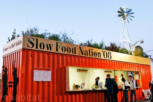 San Francisco, Slow Food Nation, reclaimed Cargo containers, shipping containers, Cargotecture, architecture, Jensen Architects