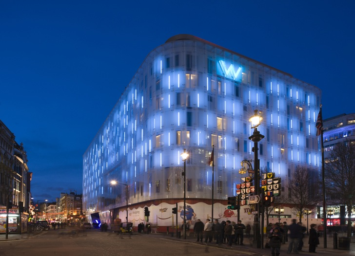 New W Hotel In London Is Wrapped In An Amazing Illuminated