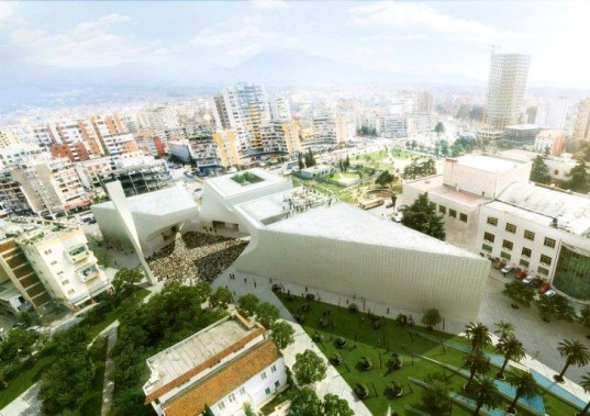 albanian cultural center, islamic cultural center, BIG, tirana, mosque, shaded space