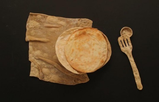 Sustainable Materials,Green Kitchen,art,bread spoon,edible design,Central Saint Martins college,bread tableware