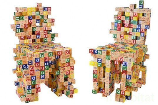 BRC Designs, ABC123, Sustainable Furniture, Sustainable Kids Chair, Blocks
