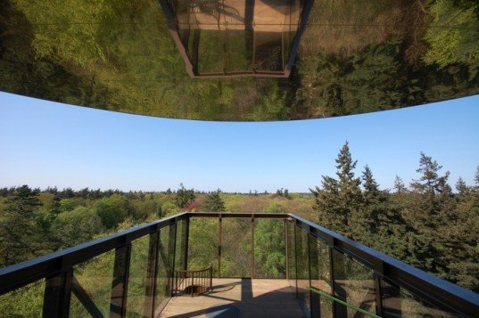 bird house walls, dutch lookout tower, eco observation tower, English stairs, forest lookout tower, net floor, Netherlands lookout tower, playful tower design, Schovenhorst Country Estate, SeARCH Architects, wooded overlook tower