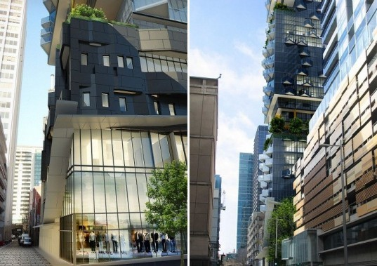 Crystal Gardens, CK Designworks, vertical gardens, melbourne, eco tower, residential tower