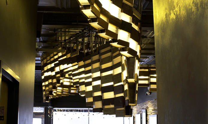 Design & Grit Tanku0027s Eco-Lighting Installation Curves Through a Milwaukee ...