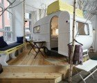Hüttenpalast: Salvaged Campers Find A New Home In A Funky Budget Berlin Hotel
