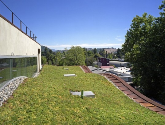 H2hotel, david baker + partners, green roof, eco hotel, healdsburg, sustainable architecture