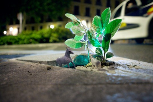 Implanted Nature, Implanted Nature, luzinterruptus, urban nature, green art, eco art, sustainable art, green