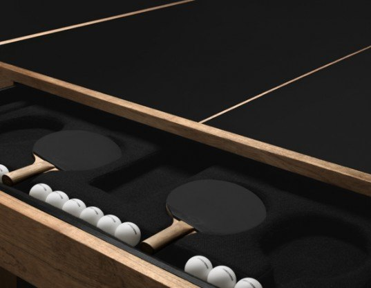 ping pong, james perse, limited edition ping pong table, green games, environmentally farmed teak, sustainable games, sustainable ping pong table