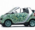 Artist Sarah Illenberger Creates Pixelated Cardboard Smart Car