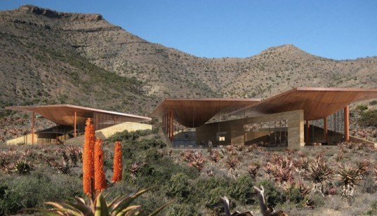 Africa green building, eco center, evaporative cooling, Karoo desert, Karoo Wilderness Center, passive cooling, south africa architecture, South Africa environmental center, water catchment