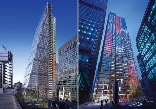 Rogers Stirk Harbour and Partners, Leadenhall Building, eco tower, london, high performance facade, Cheese Grater
