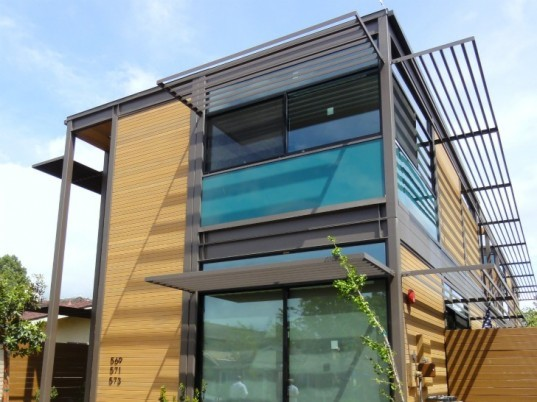 Livinghomes completes 3 unit ray kappe designed multi for Multi family modular homes prices