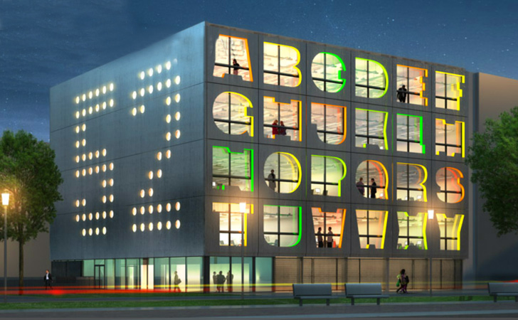 MVRDV, Alphabet Building, office building, energy efficient design, amsterdam, alphabet