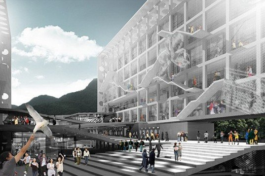 green design, eco design, sustainable design, Chu Hai College, OMA, Leigh & Orange Architects, China, college campus, Castle Peak Bay