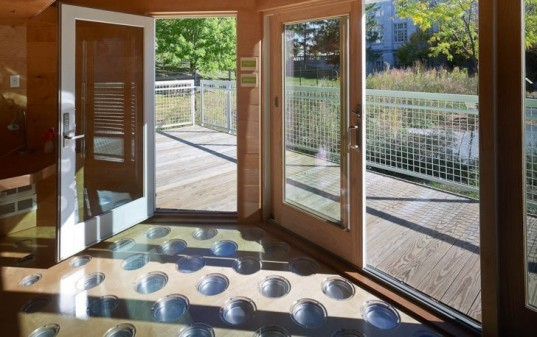 grey water, solar thermal, integrated house design, off grid, miro house, solar house, green demonstration house, OSU building, COSI, Ohio green building, eco micro house, eco demonstration house,