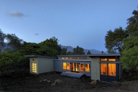 Stillwater Dwelling, Santa Barbara, butterfly roof, prefab home, energy efficient design, green building