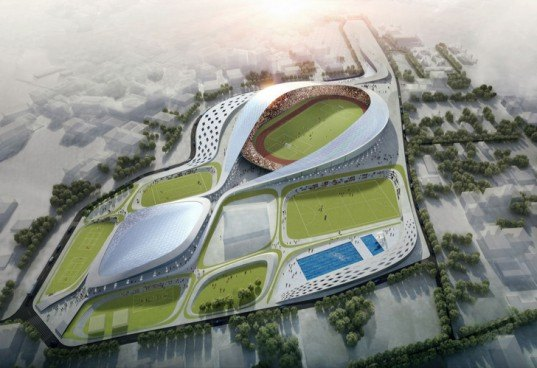 green design, eco design, sustainable design, Studio Symbiosis, Sonia Gandhi, Sports complex, biomimicry architecture, solar panel, solar power, kinetic energy, piezoelectricity, pneumatic panels