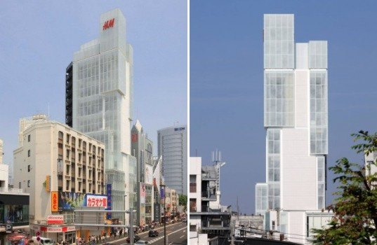 Ice Cube-Shaped Tokyo H&M Store's Frosty Fritted Glass ...
