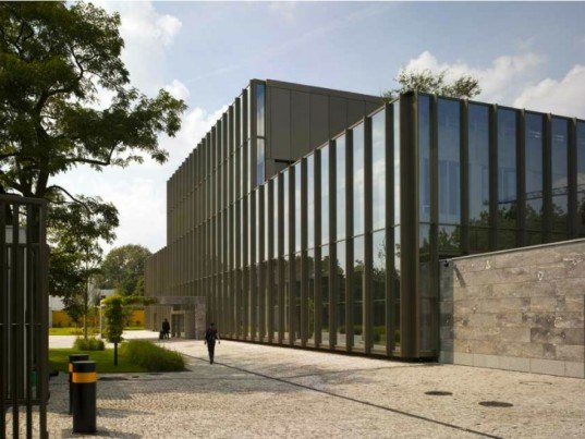Tony Fretton Architects, British Embassy in Warsaw, double glazed facade, blast-proof facade, poland, embassy, energy efficient design