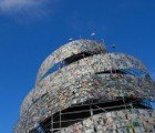 Spiraling Tower of Babel Made From 30,000 Donated Books Pops Up in Buenos Aires