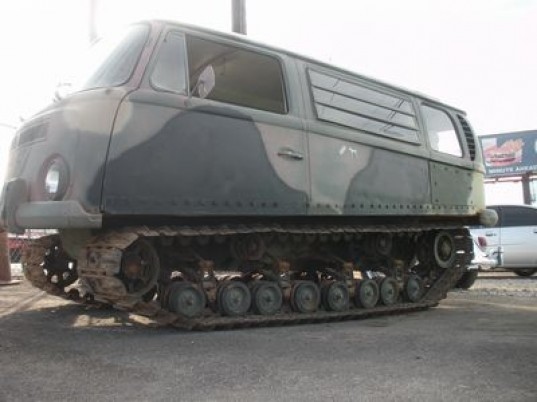 Hybrid Technologies, vw tank, vw camper, bus tank, tracked vehicles, off road vehicle, recycled vehicles