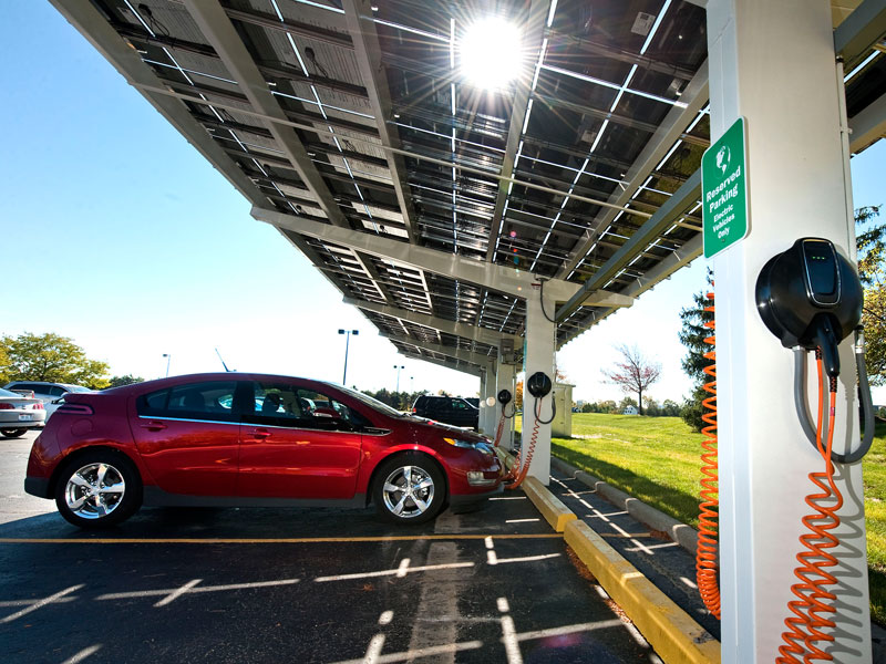 Gm Reveals It Charges Volts With Solar Panels Before They Head To Dealerships