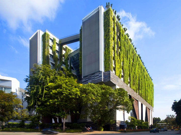 School Of The Arts Is A Vibrant Green Addition To Singapore S City Center