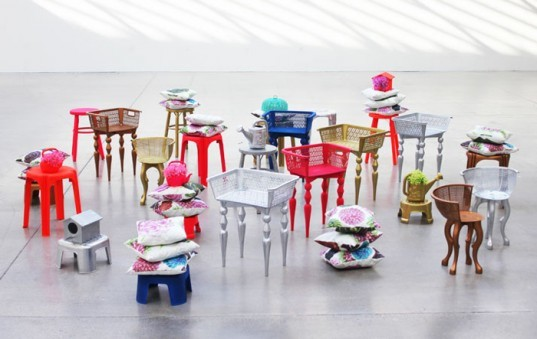 green design, eco design, sustainable design, Saran Yen, recycled materials, recycled plastic, art, recycled chairs, Konstfack Design School