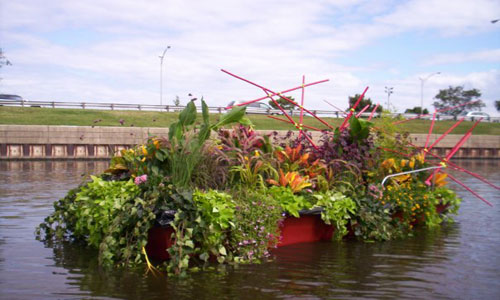 Retired Lifeguard Boats Get New Lives as Floating Gardens | Inhabitat - Green Design, Innovation, Architecture, Green Building