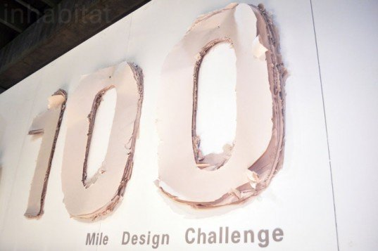 100 mile design challenge, icff, ny design week, sustainable design, environmental design, product design, local resources, mica, university of washington, student work, sign, paper, layers