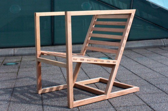 100 mile design challenge, icff, ny design week, sustainable design, environmental design, product design, local resources, mica, university of washington, student work, lola chair, hans harland hue, red oak